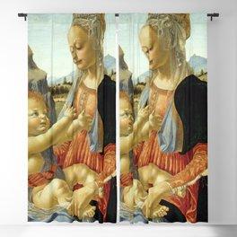 "Andrea del Verrocchio ""Madonna with seated Child"" Blackout Curtain"