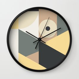 Abstract and geometric 13 Wall Clock