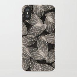 Fallen Fairy Wings - Silver Screen Edition iPhone Case