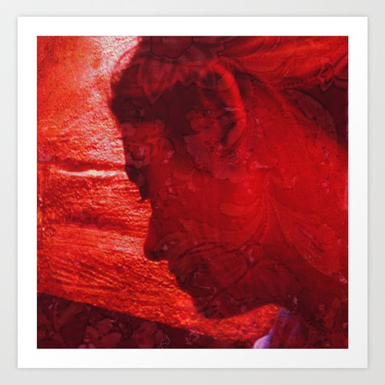 Girl in Red Art Print