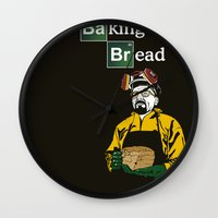 baking Wall Clocks featuring Baking Bread by azra