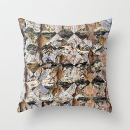Pine bark pattern in diamonds shapes Throw Pillow
