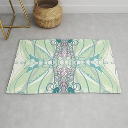 Spring Colors & Squiggles Rug