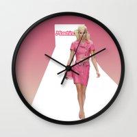 moschino Wall Clocks featuring MOSCHINO RUNWAY BARBIE GIRL by RickyRicardo787