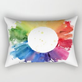 Color Wheel Rectangular Pillow