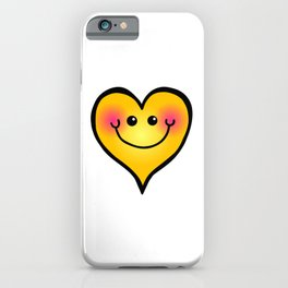Happy Smiling Heart Shape iPhone Case