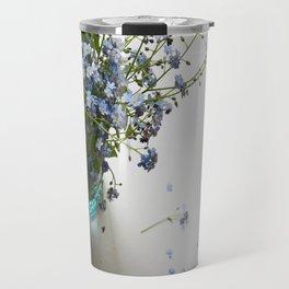 Blue in blue Travel Mug