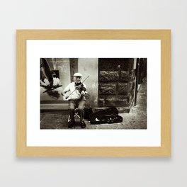 Seasoned Violinist Framed Art Print