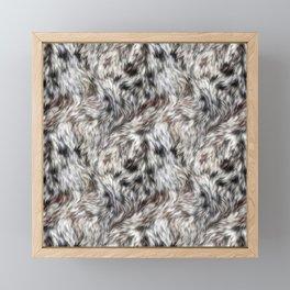 Snow Leopard Fur 03 Framed Mini Art Print