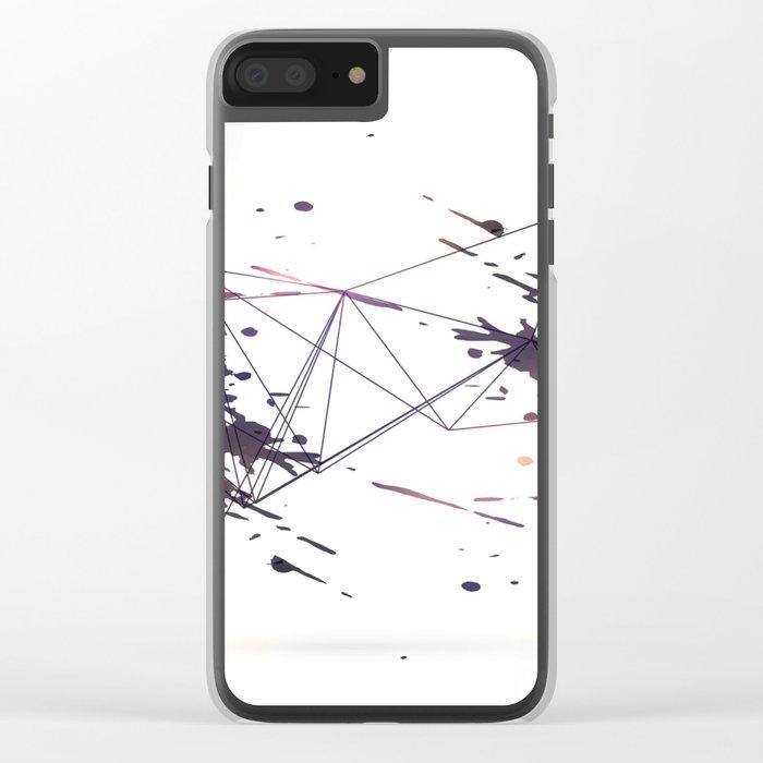 Geometric splatter Clear iPhone Case