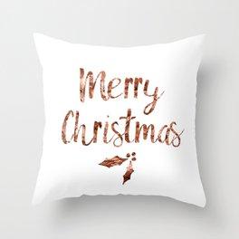 Rose gold Christmas Throw Pillow