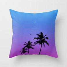 Neon Nights Throw Pillow