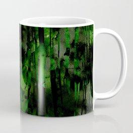 Black Wood Print Coffee Mug