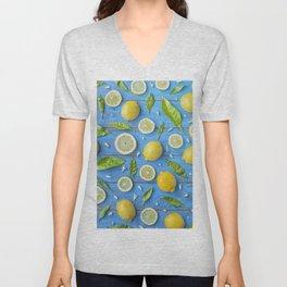 Fruits and leaves pattern (32) Unisex V-Neck