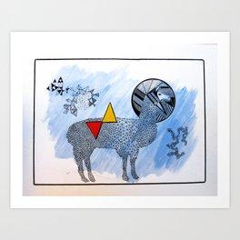 LAMA. Art Print