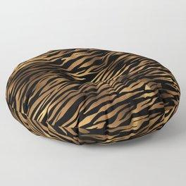 Gold and black metal tiger skin Floor Pillow