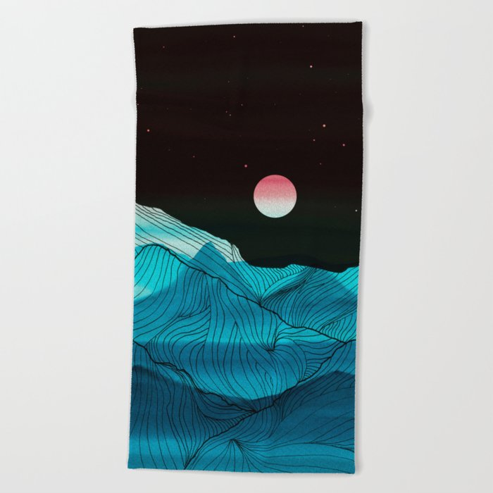 Lines in the mountains XV Beach Towel