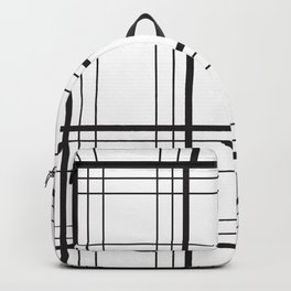 Checkered black and white classic pattern Backpack