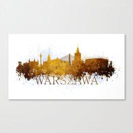 Warsaw in autumn tones Canvas Print