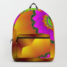 Colorful blossom of fantasy ... Backpack
