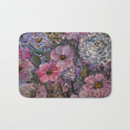 She wanted Pink and Purple Posies Bath Mat