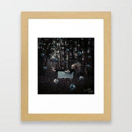Falling words Framed Art Print