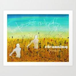 Cleansing process Art Print