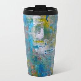 Modern Abstract Wall Art, A NEW Look, Blue vivid colors, living room wall art Travel Mug