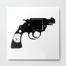 Detectives Revolver Metal Print