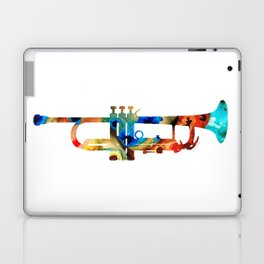 Colorful Trumpet Art By Sharon Cummings Laptop & iPad Skin