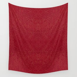 Dark red rough leather texture abstract Wall Tapestry