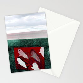 red sharks Stationery Cards