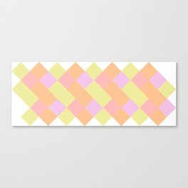 A summer wedding with triangles Canvas Print