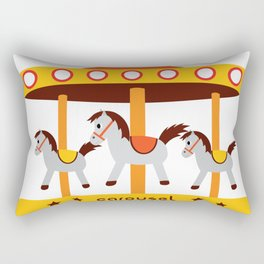 carousel amusement park Rectangular Pillow