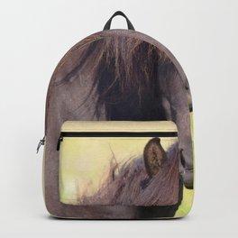 Watercolor Horse 18, Icelandic Pony, Höfn, Iceland, Derp? Backpack