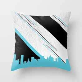 Diagonal Blue Throw Pillow