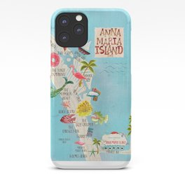 Anna Maria Island Map iPhone Case
