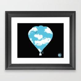 sky balloon Framed Art Print