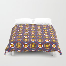 Pais de Azulejo Portuguese Tile Pattern Duvet Cover