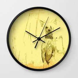 Chinese crested 23 Wall Clock