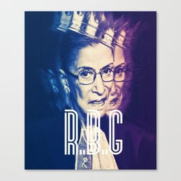 RBG Ruth Bader Ginsburg Fight For The Things You Care About Canvas Print