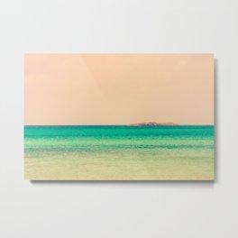 Tropical Waters in Bahamas Island on Horizon Metal Print