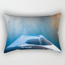 Moving Fast Kayaking on McCloud Reservoir Rectangular Pillow