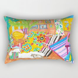 Boho suzanis and sunshine in Mexico Rectangular Pillow