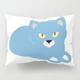 Cat light blue Pillow Sham