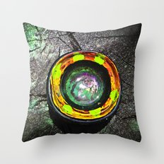 Camera Lens In The Wild Throw Pillow