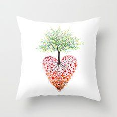 Tree of life heart Throw Pillow