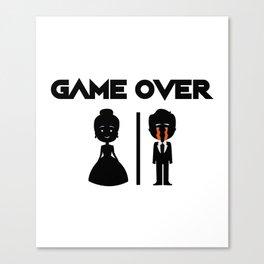 Game Over Groomsmen - Groom Funny Canvas Print
