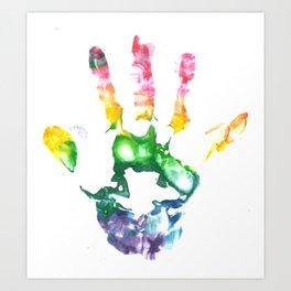 Rainbow Handprint Art Print