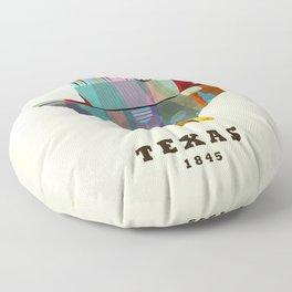 Texas state map modern Floor Pillow